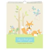 Pepper Pot Baby's First Year Keepsake Calendar, Forest Family