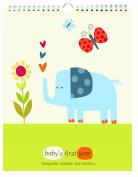 Pepper Pot Baby's First Year Keepsake Calendar, Jungle Friends Boys
