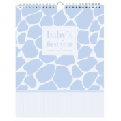Pepper Pot Baby's First Year Keepsake Calendar, Giraffe Boy
