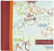 Sybille Lichtenstein Slim Compact Journal Album for Photos, Toot-Toot