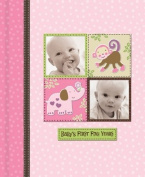 Silly Monkey Baby Girl - Baby's First Five Years Keepsake Record Book with Storage Box 5742600
