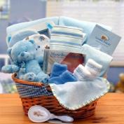 Simply The Baby Basics New Baby Gift Basket- Blue GiftBasketsAssociates
