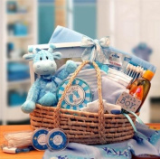 Our Precious Baby Carrier Blue GiftBasketsAssociates Baby Gift Baskets