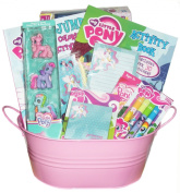 My Little Pony (girls ages 3-8) Just Right Gift Basket - Perfect for Easter, Birthdays, Christmas, or Other Occasion
