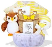 """Owl Always Love You"" Personalised Baby Gift Basket"
