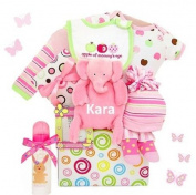 Apple of Mommy's Eye Baby Girl Gift Basket - Personalised