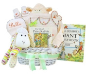 Personalised Lullabies & Tales Luxury Baby Gift Basket - Deluxe