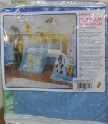 Looney Tunes Baby Crib Bedding Accessory Set/3 Nappy Stacker, Crib Skirt & Receiving Blanket
