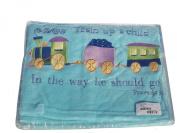 Manual Woodworkers & Weavers Choo Choo Train Fleece Blanket