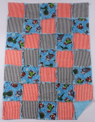 Thomas the Tank Engine Print Baby Rag Quilt with Matching Burp Cloth and Bib