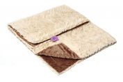 Magnolia Line Minky Baby Blanket Lux Brown