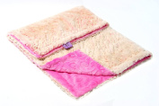 Magnolia Line Minky Baby Blanket Lux Pink