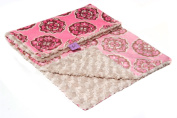 Magnolia Line Minky Baby Blanket Plush Pink