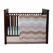 Trend Lab Cocoa Mint 3 Piece Crib Bedding Set, Taupe