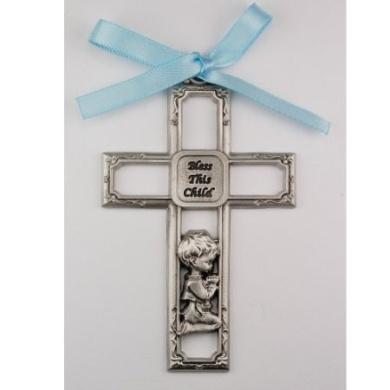 Boy Crib Medal Round 2 3/4 Great Gift Baby Shower blue ribbon