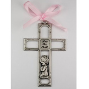 Girl Crib Medal Pink Ribbon 3 1/2 Great Gift Baby Shower