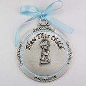 Boy Crib Medal Round 2 3/4 Great Gift Baby Shower blue ribbon