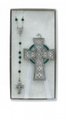 Celtic Crib Cross & Rosary Set Irish Celtic Claddagh Catholic Religious