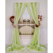 Curtain Critters Plush Jungle Safari Lion and Giraffe Curtain Tieback, Car Seat, Stroller, Crib Toys Collector Set