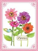 Eeboo Flower-zinnia Canvas Wall Art
