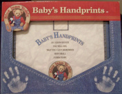 Blue Jean Teddy Baby's Handprints