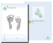 TenLil'Imprints Birth Announcement Kit, Blue/Black