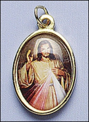 Blessed By Pope Benedit XVI Divine Mercy Full Colour Medal