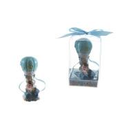 "Lunaura Baby Keepsake - Set of 30.5cm Boy"" Baby in Hot Air Ballon Favours - Blue"