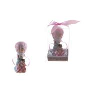 "Lunaura Baby Keepsake - Set of 30.5cm Girl"" Baby in Hot Air Ballon Favours - Pink"