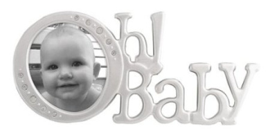 Malden Oh Baby Jewel Script Picture Frame