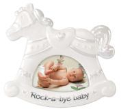 Malden International Designs Ceramic Picture Frame, Rocking Horse