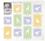 Malden International Designs Baby's 1st Year Wall Collage