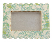 Cid Pear Baby Photo Frame, Toile Green