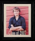 8x10 Class of 2007 Portrait Senior/Graduate School Picture/Photo Keepsake Frame ~ Cream Mat with BLACK Frame ~