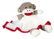 Sock Monkey Snuggle Buddy Security Blanket Lovey by Baby Starters