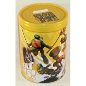 "Teenage Mutant Ninja Turtles TMNT ""Beat This!"" Round Tin Bank with Easy-Off Lid"