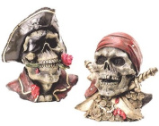 Set of Two Pirate Skull Banks