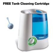 Vicks V745A Warm Mist Humidifier with Auto Shut-Off with FREE ProTec Humidifier Tank Cleaning Cartridge