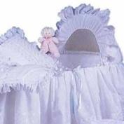 Little Angel Bassinet liner & hood - colour mint ribbon - Size 16x32