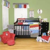 Trend Lab 30019 Dr. Seuss Cat In The Hat -3 Piece Crib Bedding Set