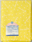 "NuAngel 100% Cotton Flannel Receiving Blanket, Sunshine Yellow ""Jesus Loves Me"" MADE IN USA"