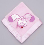 Mullins Square Kids / Teether Blanket, Pink Puppy