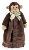 Bearington Baby Giggles Snuggler, Plush Monkey Security Blanket, Lovey (Brown) 38cm