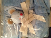 Koala Baby Blanket with Rattle - Blue Mouse