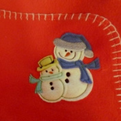 Parents Choice Soft Red Fleece Snowman Baby Blanket