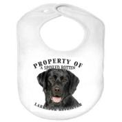 Labrador Retriever BLACK Property 100% Polyester Fleece Infant Baby Bib