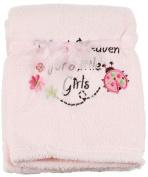 """Little Beginnings """"Thank Heaven for Little Girls"""" Baby Blanket - light pink, one size"""