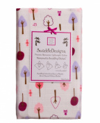 SwaddleDesigns Marquisette Swaddling Blanket - Very Berry Cute & Wild