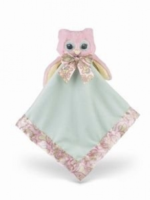 Bearington Baby Collection Lil' Hoots Owl Snuggler Security Blanket - Baby Shower