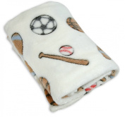 Stephan Baby Sports Fun Ultra Soft Fleece Blanket, Multi